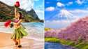 【夏意和风·双国物语】夏威夷+日本9天7晚·夏威夷草裙舞之夜+加长礼宾车环岛游+直升机俯瞰钻石山+珊瑚间探秘+晴空塔水中倒影+东京 最高级的和牛铁板烧