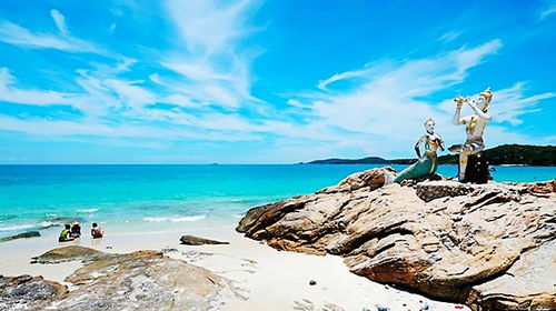 泰国沙美岛五岛观光 浮潜快艇一日游