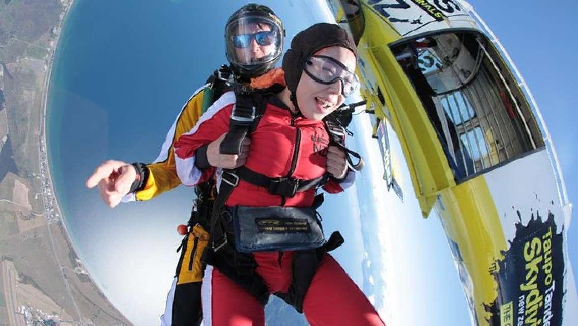 12,000 ft. Tandem Skydiving from Rotorua