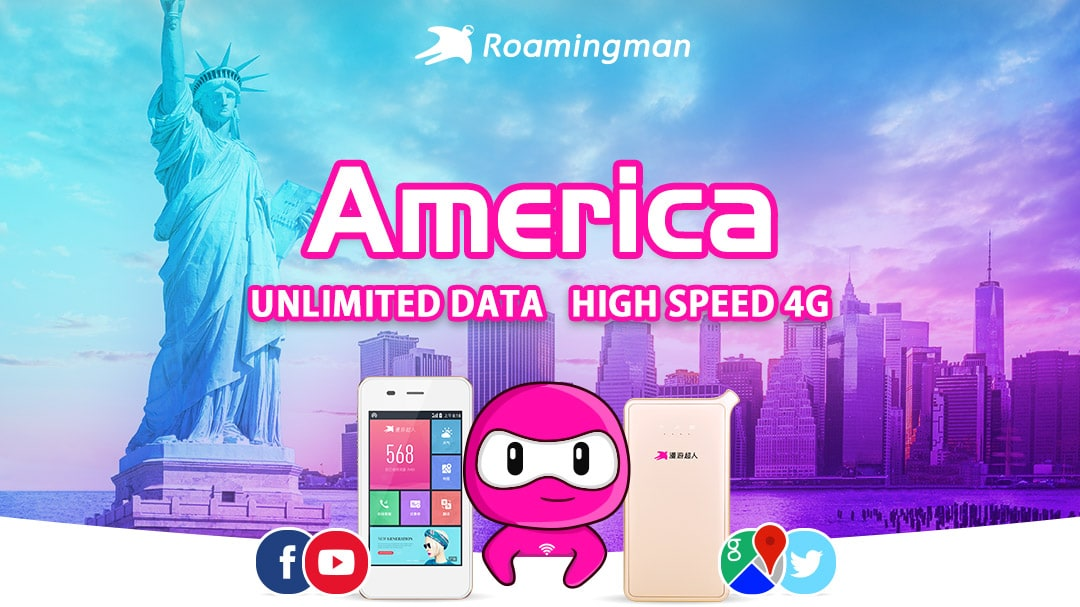 [Unlimited Data] 4G WiFi for USA (Guangzhou Pickup)