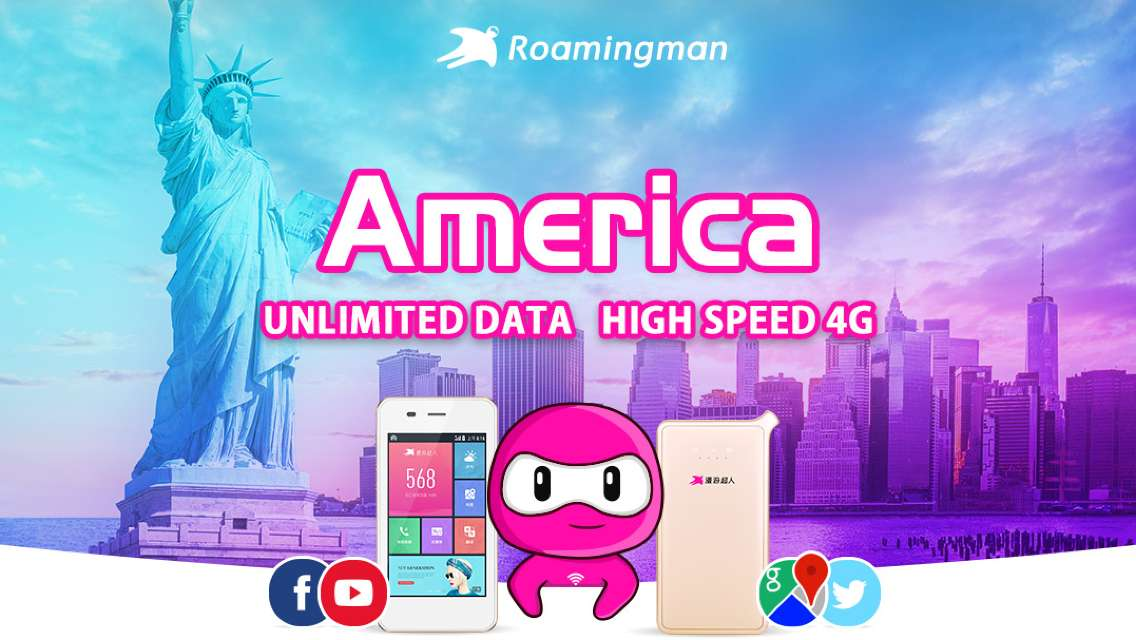 [Unlimited Data] 4G WiFi for USA (Shenzhen Pickup)