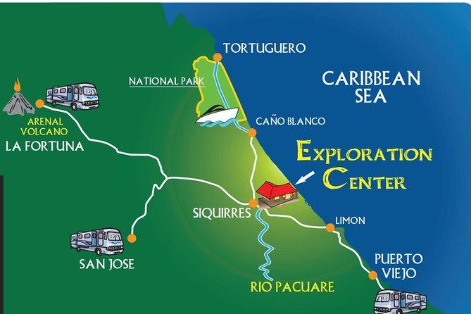 Shuttle In to Tortuguero from San Jose, Fortuna, Cahuita or Puerto Viejo
