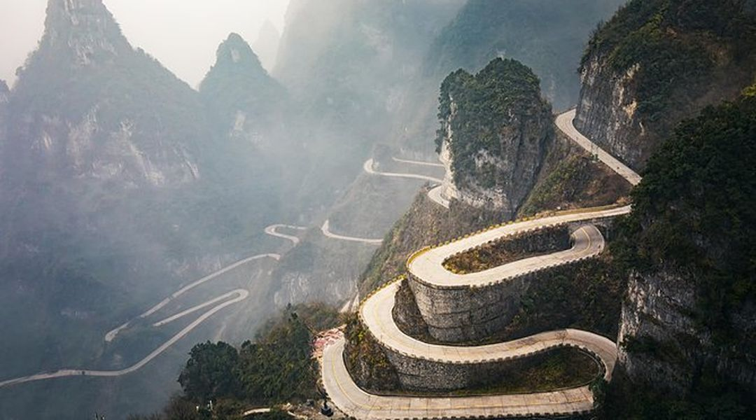 99 Bending Road in Zhangjiajie, China