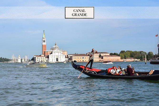 Venice: charming gondola ride on Grand Canal