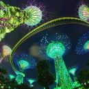 シンガポール・ナイト・アウト:音楽と光のショー、マリーナ・ベイ・サンズ・スカイパーク、リバー・タクシー