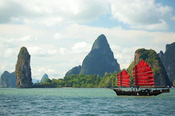 ジュン バートラ(June Bahtra)号:中国のジャンク船でのパンガー湾終日ランチ クルーズ