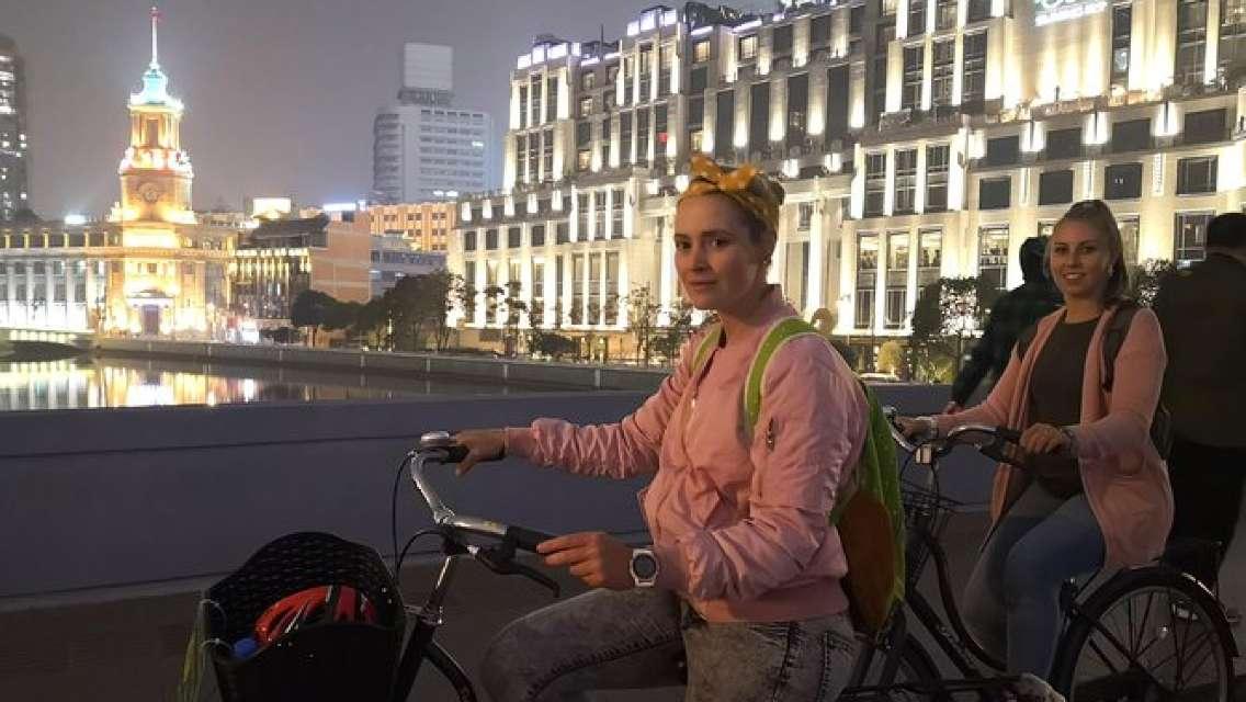 Shanghai Foodie Test & Nightlife Adventure Bike Tour