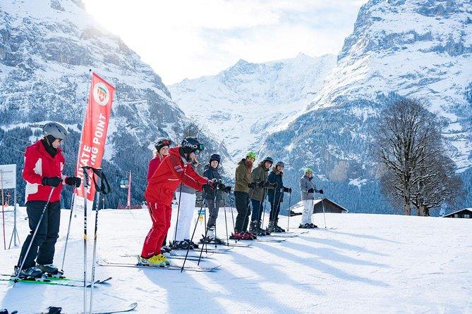 Half-Day Beginner Ski or Snowboard Lesson in Grindelwald from Interlaken