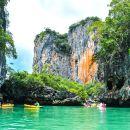 Phang Nga Bay Sea Cave Canoeing & James Bond Island by Big Boat from Phuket