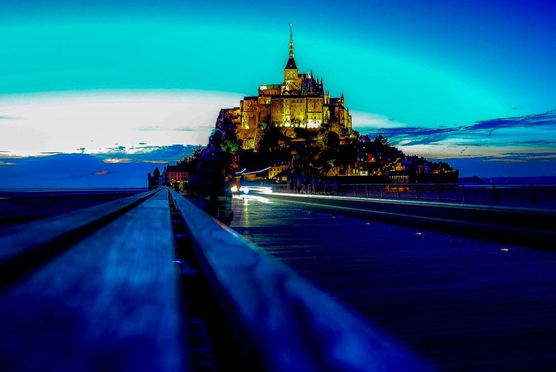 소수정예 몽생미셸 낮과밤 옹플뢰르 8인이하 사진 숙소샌딩포함