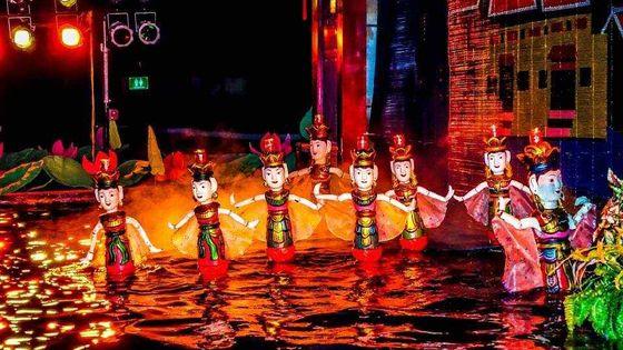 Water Puppet show and Dinner - Rex Sen Vàng at Vertical Garden