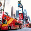 New York Uptown to Downtown Hop-On Hop-Off Bus Tour plus Attraction Tickets