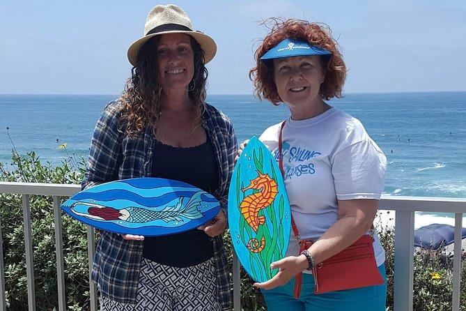Souvenir Surfboard Paint Party at the Beach