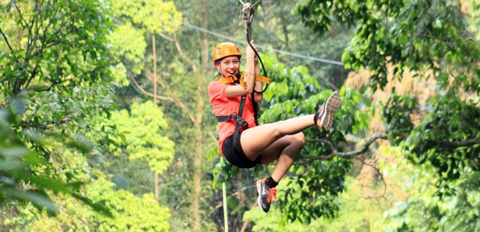 【豐富你的清邁之旅】 清邁長臂猿叢林飛索/大象保育園體驗/泰菜廚藝課程/2小時 Segway 體驗