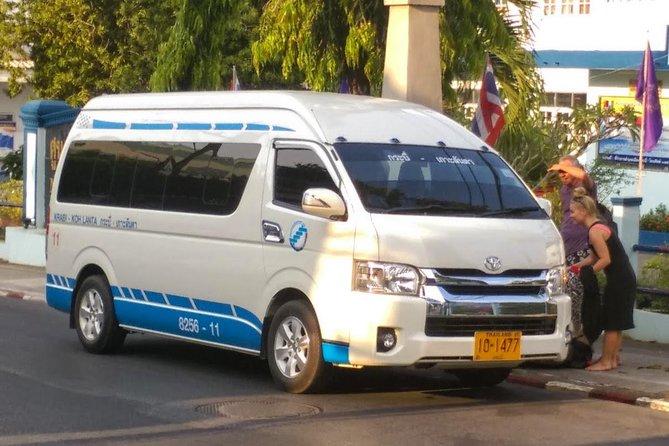 Koh Lanta to Krabi Town, Krabi Airport or Bus Terminal by Shared Minivan