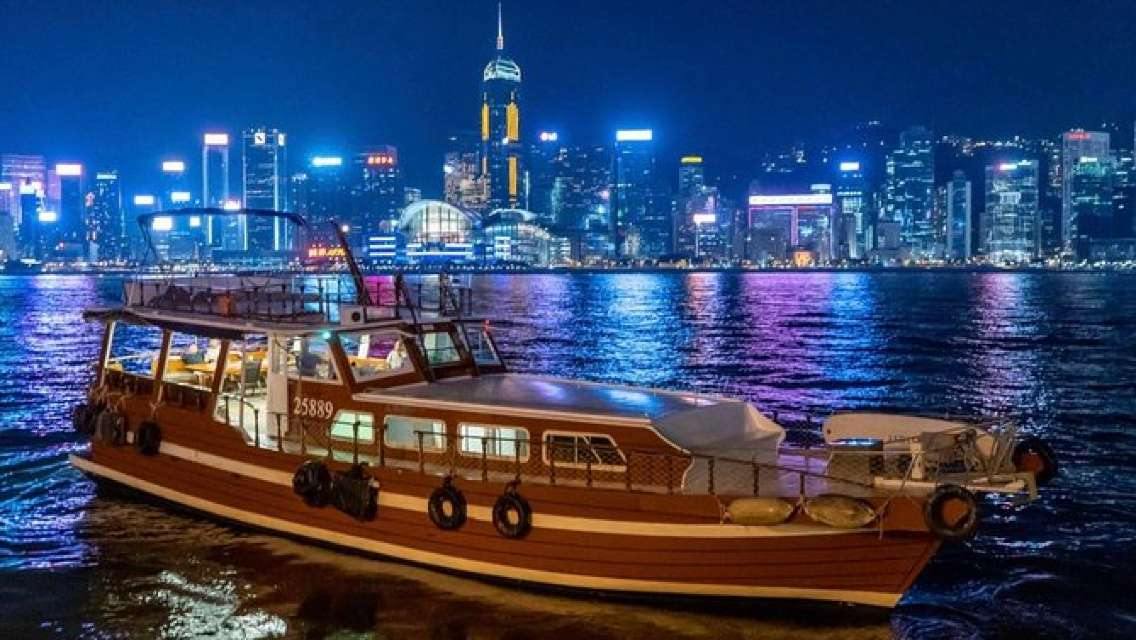 2-Hour Dinner & Shows on Victoria Harbour Night Cruise