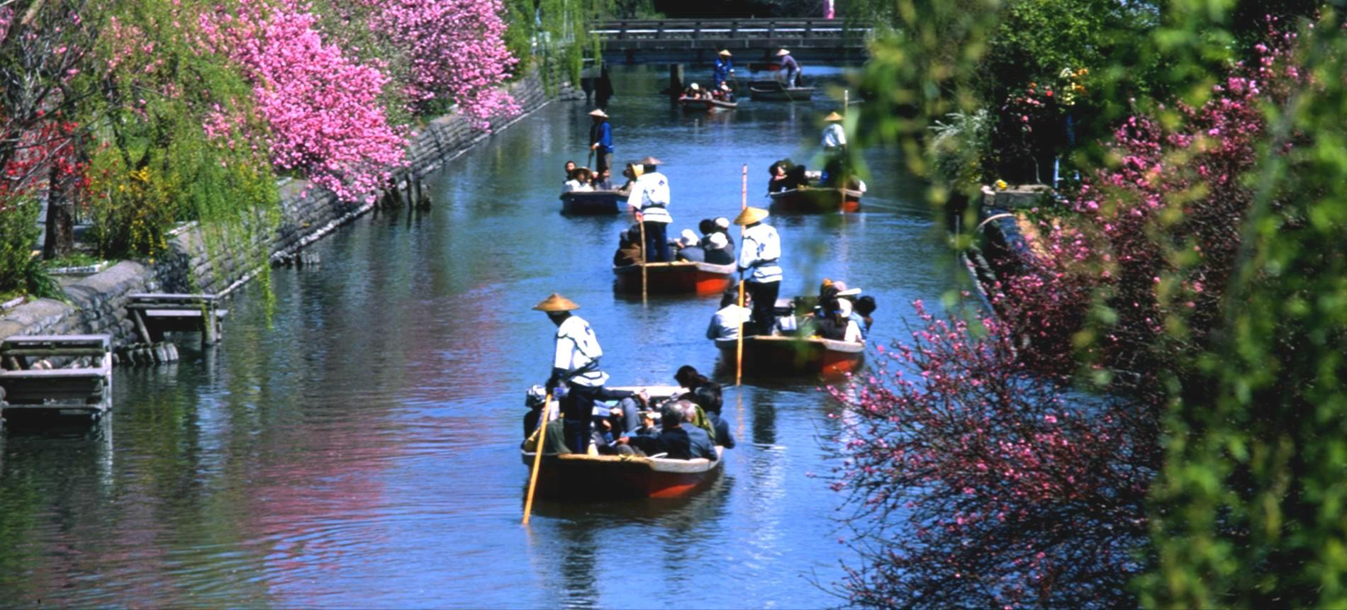 【매력적인 큐슈】 야나가와 뱃놀이 투어 티켓 : 시타마치의 풍경을 둘러보실 수 있는 나룻배 투어