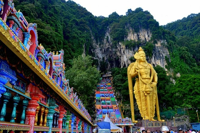 The holy caverns and temples of the Batu Caves