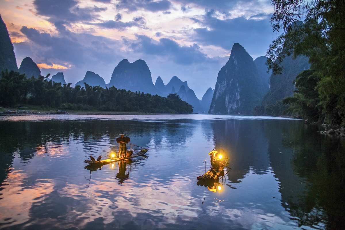 Li River Sunrise and Cormorant Bird Fishing Private Tour from Guilin