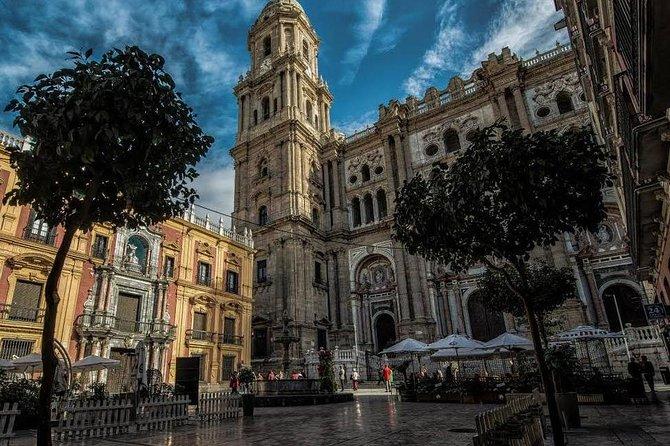 Malaga at dusk