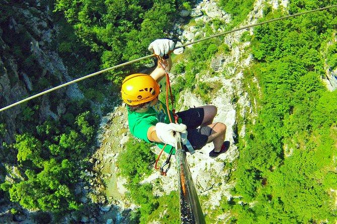 Bovec Zipline - canyon Ucja - the biggest zipline in Europe