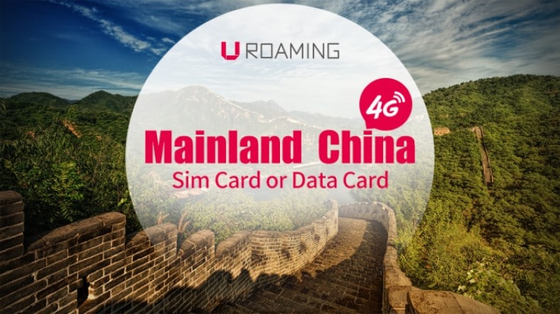Mainland China Sim Card or Data Card (Xi'an Pickup)