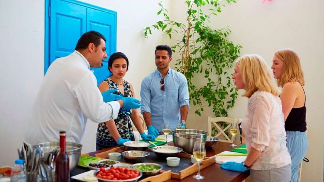 Santorini Small-Group Cooking Class and Wine Tasting