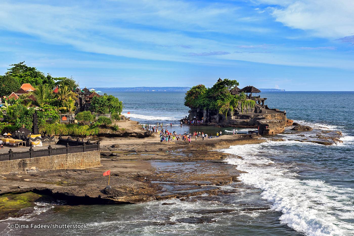 【バリ島観光 チャーター車日帰りツアー】タナロット寺院、ウブド市場、Royal Pita Mahaでアフタヌーンティ