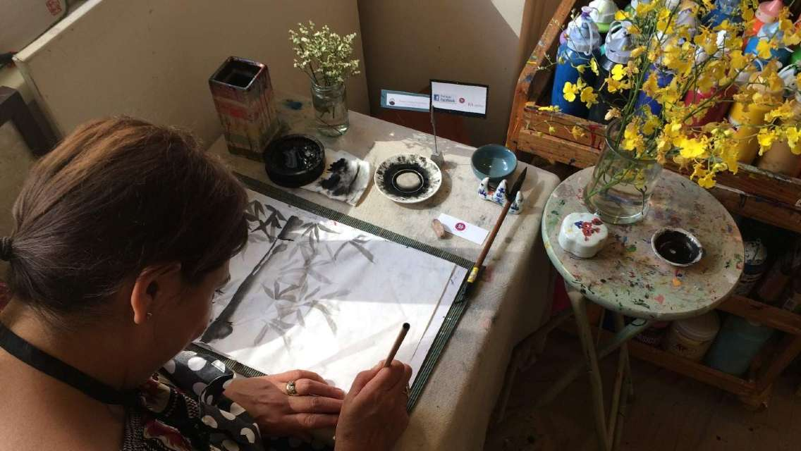 香港藝術畫坊水墨畫體驗