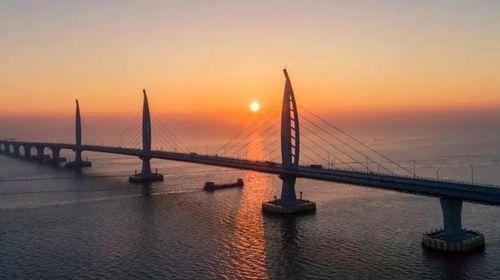 大桥空中游,直观港珠澳大桥,珠海九洲港机场乘