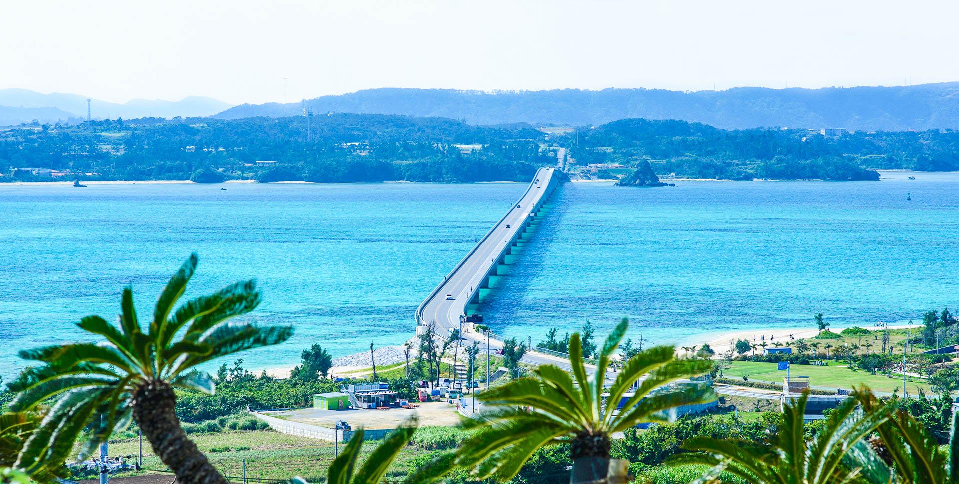 Okinawa one day bus tour Kouri Island+Churaumi Aquarium+Okashi Goten+Cape Manzamo+Ryukyu Village