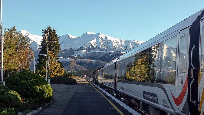 TranzAlpine Southern Alps Train Journey between Greymouth to Christchurch