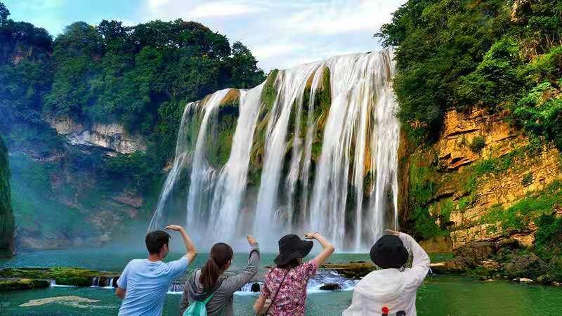 貴州黃果樹瀑布+陡坡塘瀑布+天星橋風景區+純玩一日遊(可選2-6人小團/上門接/安全消毒)