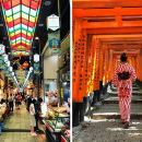 Kyoto Food Walking Tour in Nishiki Market and Gion with Fushimi Inari shrine