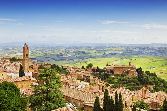 Private Tour: Orcia Valley to Montalcino and Montepulciano with Brunello Wine Tasting