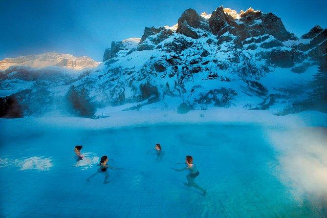 Winter ski tour: Relax full day in Les bains de Lavey