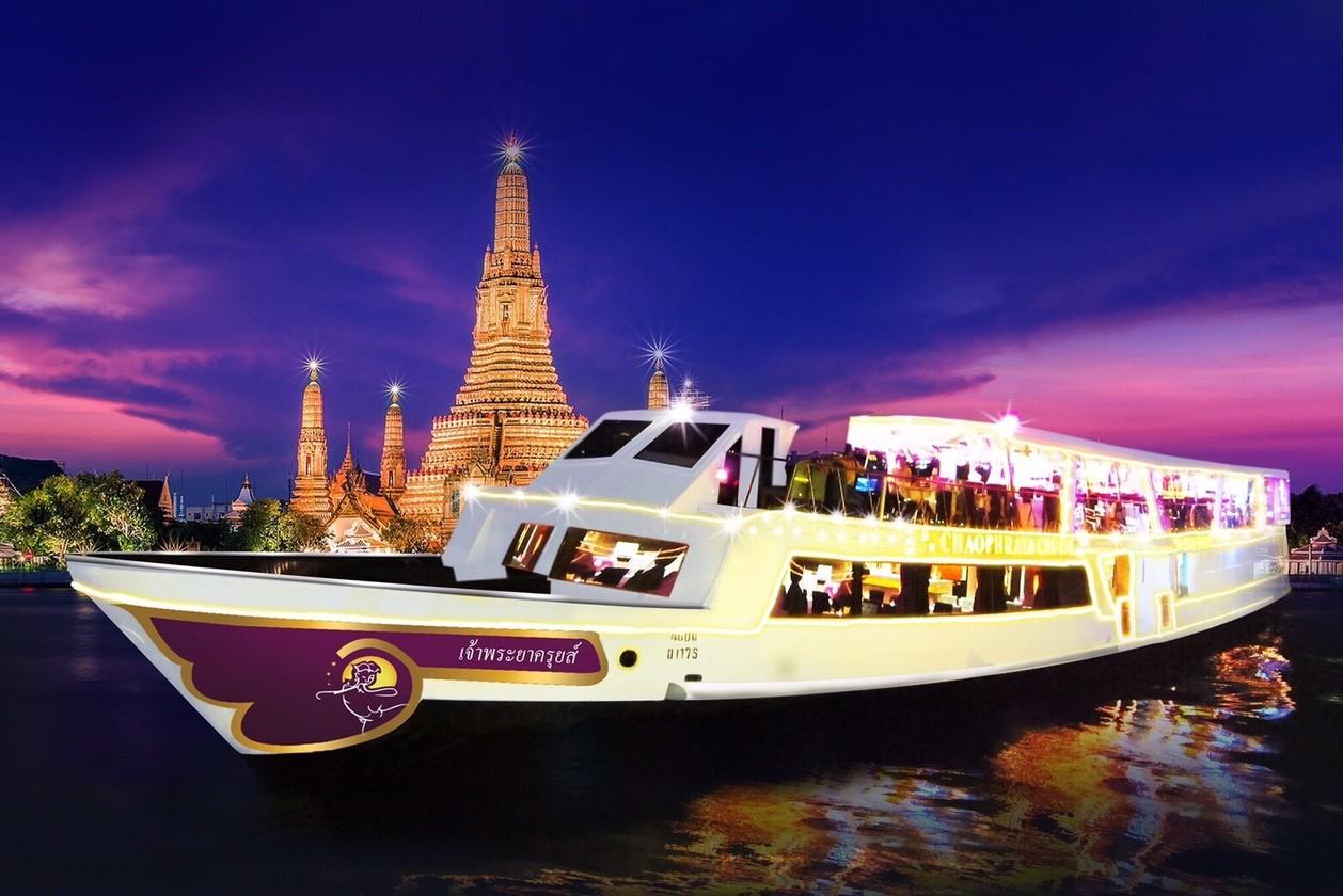 Bangkok Chao Phraya River Cruise + Buffet Dinner + Round-trip Transfer Night Tour