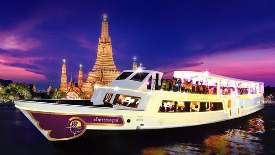 Bangkok Chao Phraya River Cruise + Buffet Dinner + Round-trip Transfer Night Tour