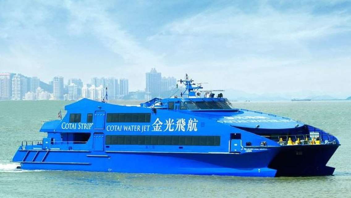 Hong Kong Kowloon to Macau (Taipa) -- Cotai Water Jet