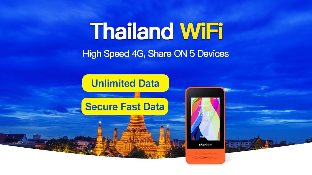 4G WiFi for Thailand (Bangkok Suvarnabhumi Airport Pickup)