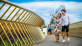 越南岘港巴拿山+佛手桥+往返缆车一日游【可选专车接送+导游+可选城堡自助餐+火车】