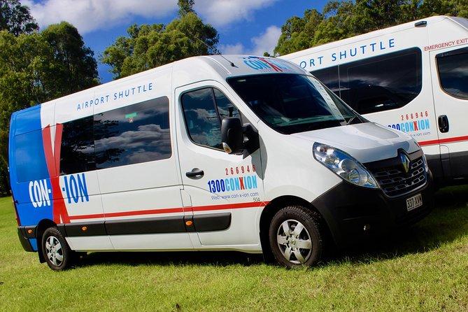 Brisbane Airport Departure shuttle Transfer from Sunshine Coast Hotels/addresses