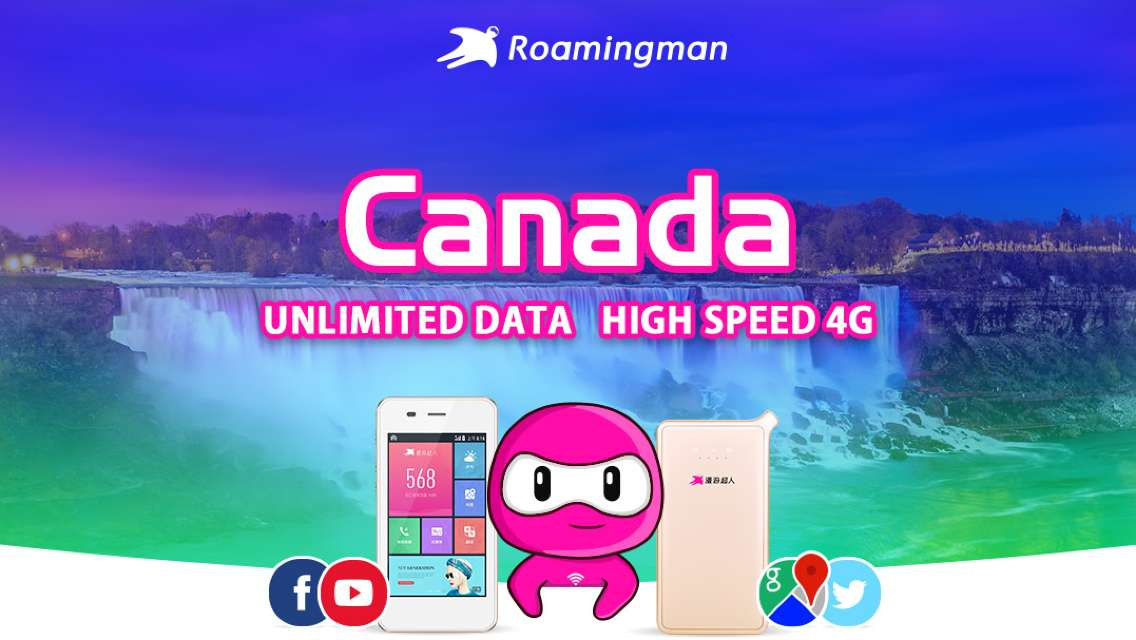 [Unlimited Data] 4G WiFi for Canada (Shanghai Pickup)