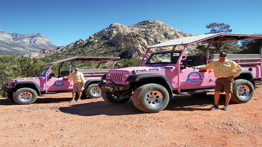 美國拉斯維加斯紅岩峽谷國家保護區一日遊(粉紅吉普-紅石峽谷石隙探險之旅 2人起訂)