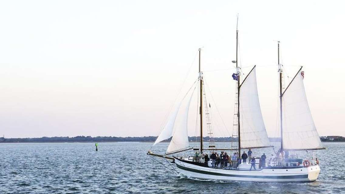 Afternoon Schooner Dolphin Cruise on Charleston Harbor