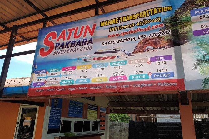 Koh Lipe to Koh Kradan by Satun Pakbara Speed Boat