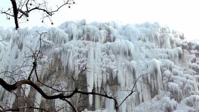 河北平山沕沕水生态风景区一日游【睡到自然醒~赏冰瀑观冰灯~】