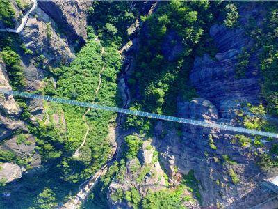 Glass Bridge Scenic Area of Shiniuzhai