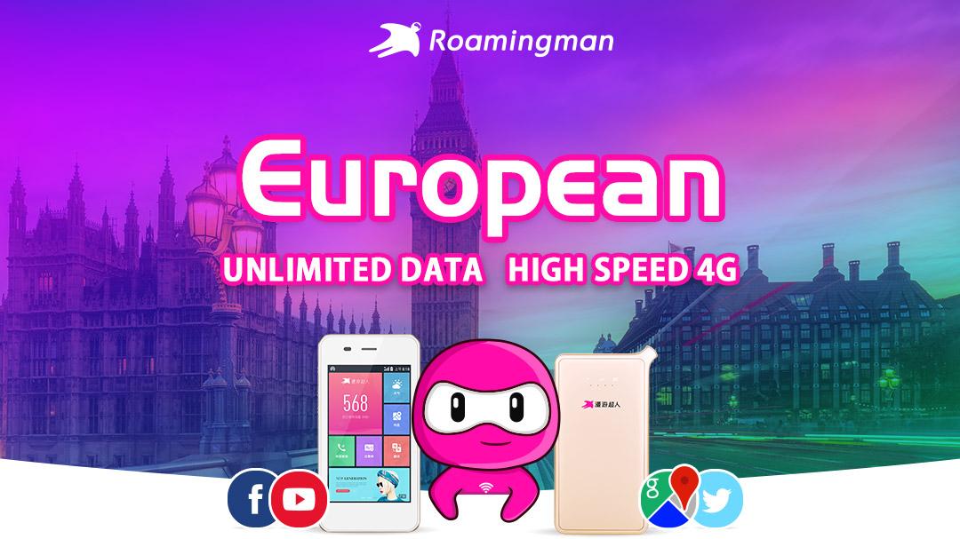 [Unlimited Data] 4G WiFi for Europe (Kuala Lumpur Pickup)