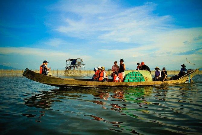 Sunset at Tam Giang Lagoon in Hue